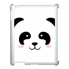 Panda  Apple Ipad 3/4 Case (white) by Valentinaart