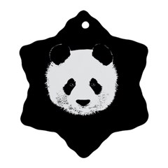 Panda  Snowflake Ornament (two Sides) by Valentinaart