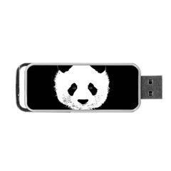 Panda  Portable Usb Flash (one Side) by Valentinaart