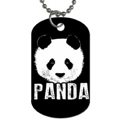 Panda  Dog Tag (two Sides) by Valentinaart