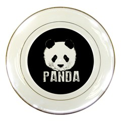 Panda  Porcelain Plates by Valentinaart