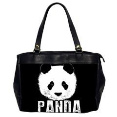 Panda  Office Handbags (2 Sides)  by Valentinaart