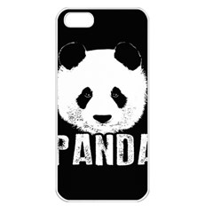 Panda  Apple Iphone 5 Seamless Case (white) by Valentinaart