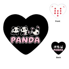 Panda  Playing Cards (heart)  by Valentinaart