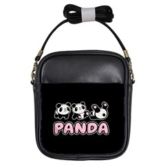 Panda  Girls Sling Bags by Valentinaart