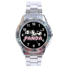 Panda  Stainless Steel Analogue Watch by Valentinaart