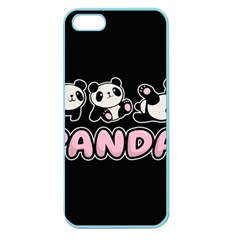 Panda  Apple Seamless Iphone 5 Case (color) by Valentinaart