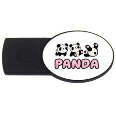 Panda  Usb Flash Drive Oval (4 Gb) by Valentinaart