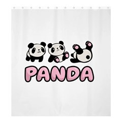 Panda  Shower Curtain 66  X 72  (large)  by Valentinaart