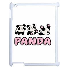 Panda  Apple Ipad 2 Case (white) by Valentinaart