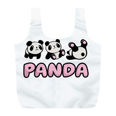 Panda  Full Print Recycle Bags (l)  by Valentinaart
