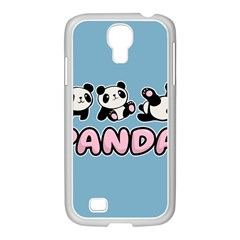 Panda  Samsung Galaxy S4 I9500/ I9505 Case (white) by Valentinaart