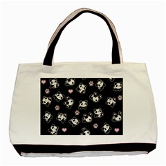 Panda Pattern Basic Tote Bag (two Sides) by Valentinaart