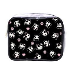 Panda Pattern Mini Toiletries Bags by Valentinaart