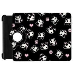 Panda Pattern Kindle Fire Hd 7  by Valentinaart