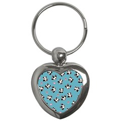 Panda Pattern Key Chains (heart)  by Valentinaart