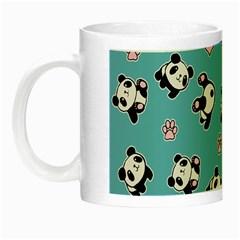 Panda Pattern Night Luminous Mugs by Valentinaart