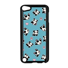 Panda Pattern Apple Ipod Touch 5 Case (black) by Valentinaart