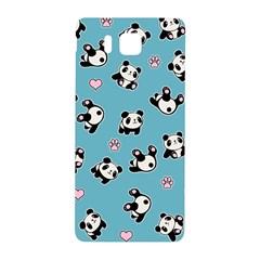 Panda Pattern Samsung Galaxy Alpha Hardshell Back Case by Valentinaart