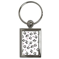 Panda Pattern Key Chains (rectangle)  by Valentinaart