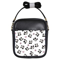 Panda Pattern Girls Sling Bags by Valentinaart