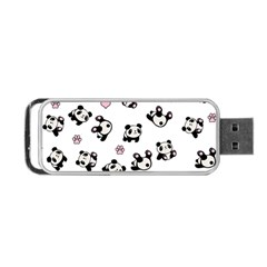 Panda Pattern Portable Usb Flash (two Sides) by Valentinaart