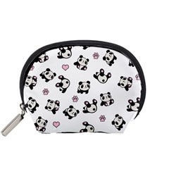 Panda Pattern Accessory Pouches (small)  by Valentinaart
