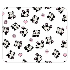 Panda Pattern Double Sided Flano Blanket (small)  by Valentinaart