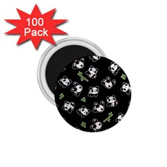 Panda Pattern 1 75  Magnets (100 Pack)  by Valentinaart