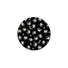 Panda Pattern Golf Ball Marker (4 Pack) by Valentinaart