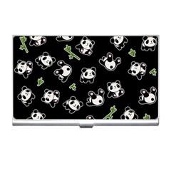 Panda Pattern Business Card Holders by Valentinaart
