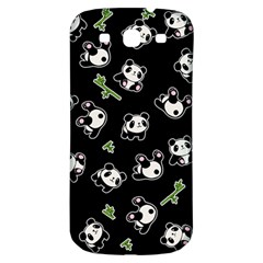 Panda Pattern Samsung Galaxy S3 S Iii Classic Hardshell Back Case by Valentinaart