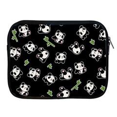 Panda Pattern Apple Ipad 2/3/4 Zipper Cases by Valentinaart