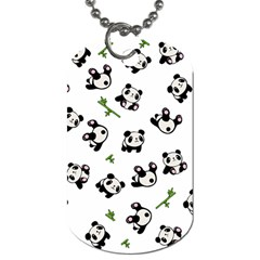 Panda Pattern Dog Tag (two Sides) by Valentinaart
