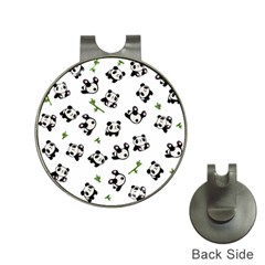 Panda Pattern Hat Clips With Golf Markers by Valentinaart
