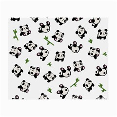 Panda Pattern Small Glasses Cloth (2 Side) by Valentinaart