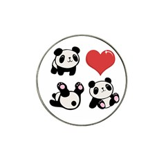 Panda Hat Clip Ball Marker (10 Pack) by Valentinaart