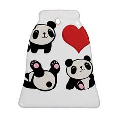 Panda Ornament (bell) by Valentinaart