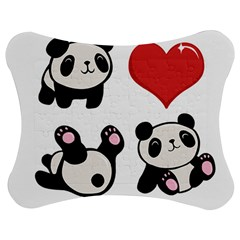 Panda Jigsaw Puzzle Photo Stand (bow) by Valentinaart