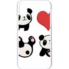Panda Apple Iphone X Seamless Case (white)