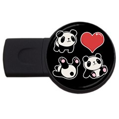 Panda Usb Flash Drive Round (2 Gb) by Valentinaart
