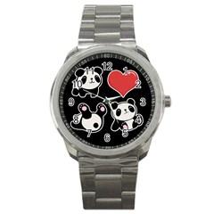 Panda Sport Metal Watch by Valentinaart