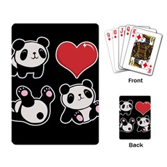 Panda Playing Card by Valentinaart