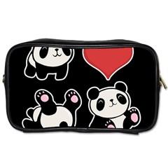 Panda Toiletries Bags 2 Side by Valentinaart