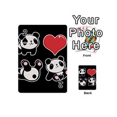 Panda Playing Cards 54 (mini)  by Valentinaart