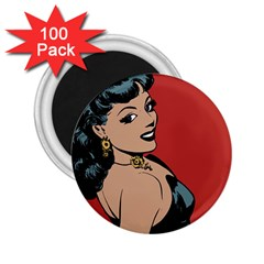 Comic Girl 2 25  Magnets (100 Pack)  by vintage2030