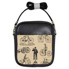 Victorian Bicycles Girls Sling Bags by vintage2030