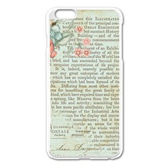Rose Book Page Apple Iphone 6 Plus/6s Plus Enamel White Case by vintage2030