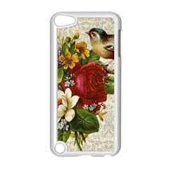 Flower Bird Apple Ipod Touch 5 Case (white) by vintage2030