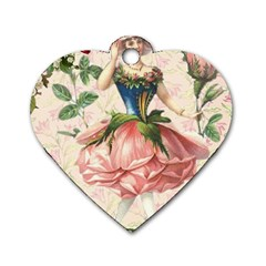 Flower Girl Dog Tag Heart (one Side) by vintage2030
